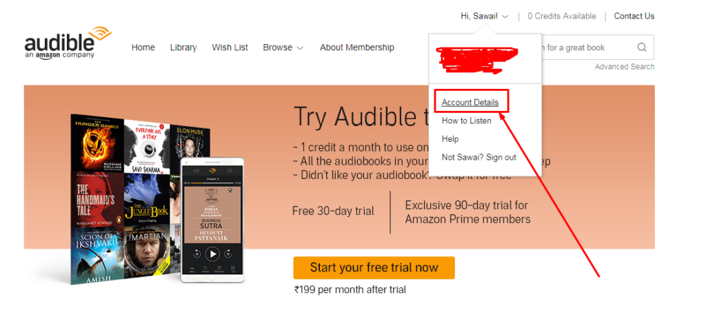 How to cancel Audible com subscription