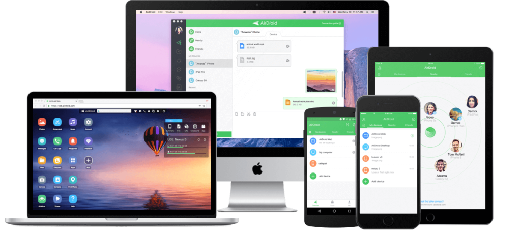 airdroid-main-screen
