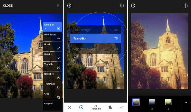 Snapseed to unblur pictures