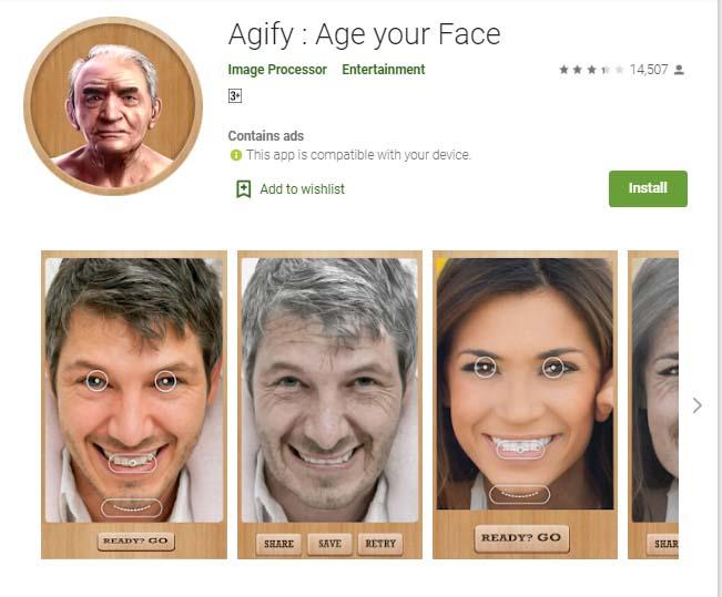 Agify - Age Transformation App