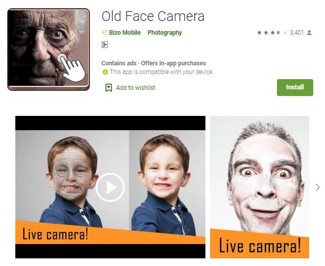 Old Face Camera