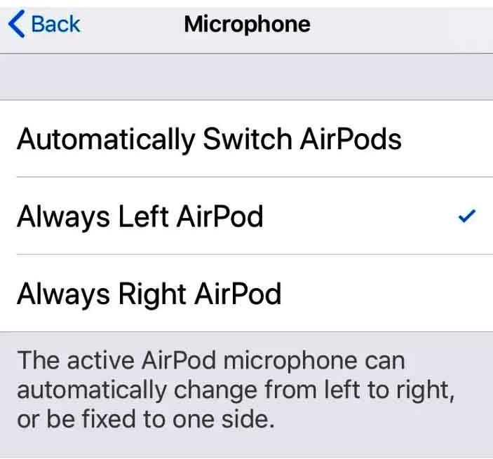 left-airpods mic not working