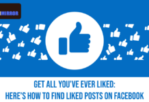 How To Find Liked Posts On Facebook